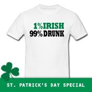 1% Irish, 99% Drunk | St. Patricks Day T-Shirts, Hoodies, Green Shirts